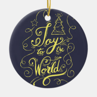 """Ornamento De Cerâmica """"Alegria obscuridade ao mundo"""" - presentes do Xmas"""