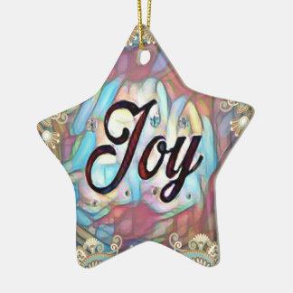 Ornamento De Cerâmica Alegria simples