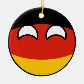 Ornamento De Cerâmica Alemanha Geeky de tensão engraçada Countryball