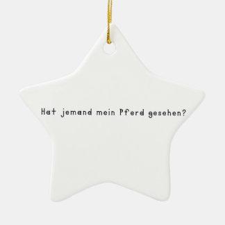 Ornamento De Cerâmica Alemão - cavalo