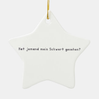 Ornamento De Cerâmica Alemão - espada