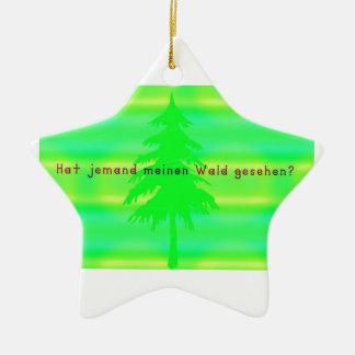 Ornamento De Cerâmica Alemão - floresta