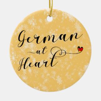 Ornamento De Cerâmica Alemão na decoração do feriado do coração