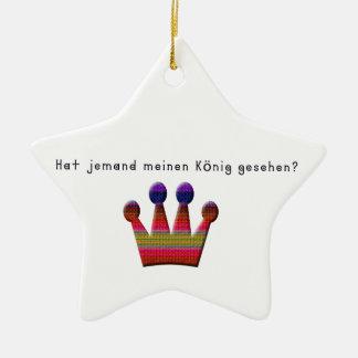 Ornamento De Cerâmica Alemão - rei
