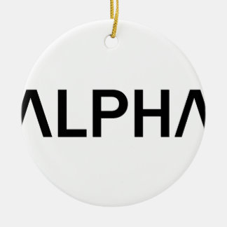 Ornamento De Cerâmica Alfa (PRETO)