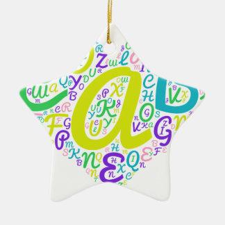 Ornamento De Cerâmica alfabeto do amor
