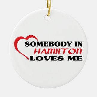 Ornamento De Cerâmica Alguém em Hamilton ama-me