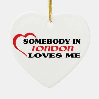 Ornamento De Cerâmica Alguém em Londres ama-me