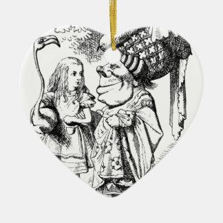 Ornamento De Cerâmica Alice e a rainha vermelha