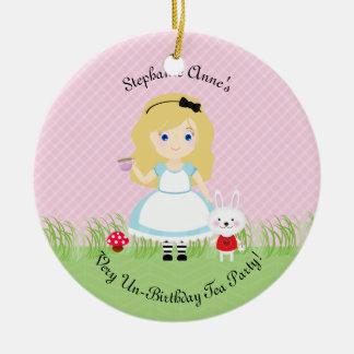 Ornamento De Cerâmica Alice e seu tea party