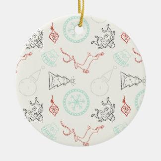 Ornamento De Cerâmica Alinhador longitudinal dos pinheiros do floco de