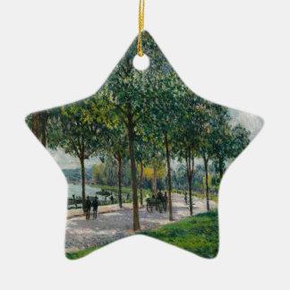 Ornamento De Cerâmica Allée de árvores de castanha - Alfred Sisley
