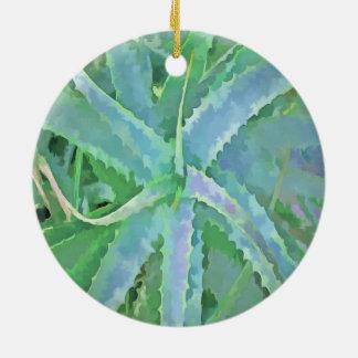 Ornamento De Cerâmica Aloés verde cinzento do pop art