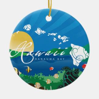 Ornamento De Cerâmica Aloha baía de Havaí Hanauma