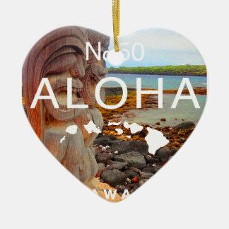 Ornamento De Cerâmica Aloha nenhuns 50 Tiki