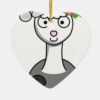 Ornamento De Cerâmica alpaca do xmas Papai Noel