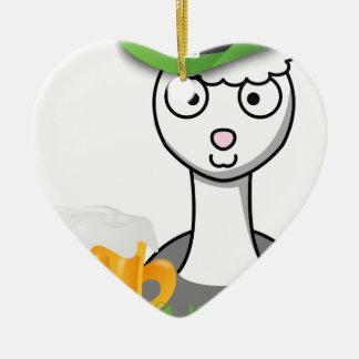 Ornamento De Cerâmica alpaca feliz do Dia de São Patrício