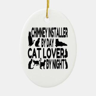 Ornamento De Cerâmica Amante do gato do instalador da chaminé