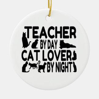 Ornamento De Cerâmica Amante do gato do professor