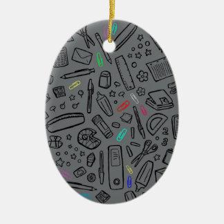 Ornamento De Cerâmica Amante dos artigos de papelaria
