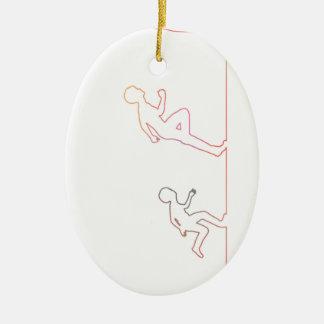 Ornamento De Cerâmica Ambição da infância do menino e perseguição de