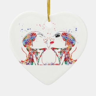 Ornamento De Cerâmica Ame a arte, anatomia da cara, anatomia do cérebro,