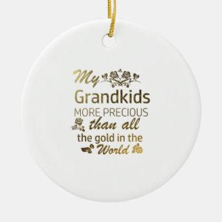 Ornamento De Cerâmica Ame meu design do Grandkid