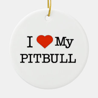 Ornamento De Cerâmica Ame meu Pitbull
