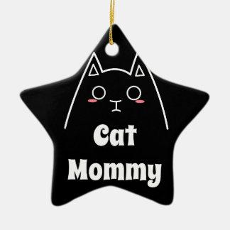Ornamento De Cerâmica Ame minhas mamães do gato