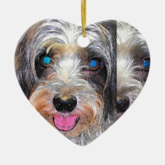 Ornamento De Cerâmica amendoim o cão do salvamento