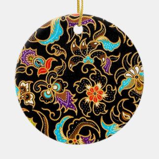 Ornamento De Cerâmica ameng 03 do batik