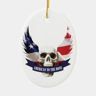 Ornamento De Cerâmica Americano ao crânio do osso