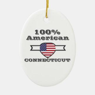 Ornamento De Cerâmica Americano de 100%, Connecticut