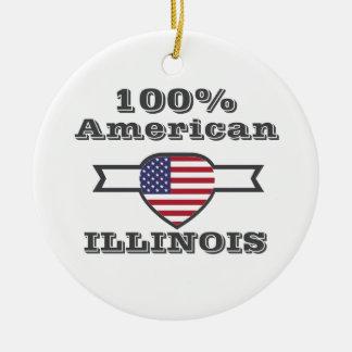 Ornamento De Cerâmica Americano de 100%, Illinois