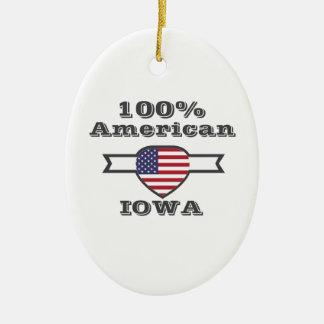Ornamento De Cerâmica Americano de 100%, Iowa