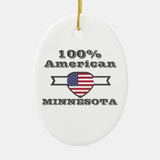 Ornamento De Cerâmica Americano de 100%, Minnesota