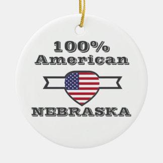 Ornamento De Cerâmica Americano de 100%, Nebraska