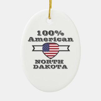 Ornamento De Cerâmica Americano de 100%, North Dakota
