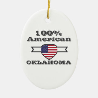 Ornamento De Cerâmica Americano de 100%, Oklahoma