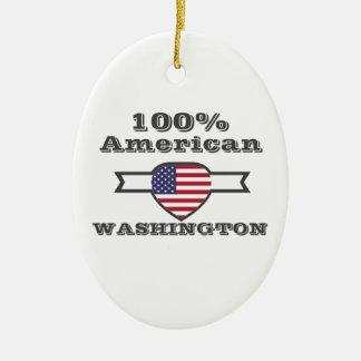 Ornamento De Cerâmica Americano de 100%, Washington