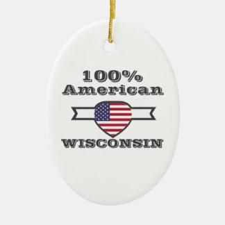 Ornamento De Cerâmica Americano de 100%, Wisconsin