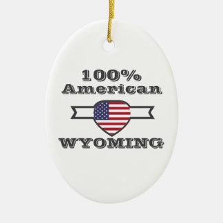 Ornamento De Cerâmica Americano de 100%, Wyoming