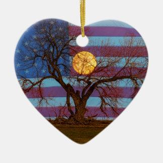 Ornamento De Cerâmica Americano novembro Supermoon