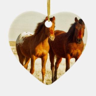 Ornamento De Cerâmica Amigos do cavalo
