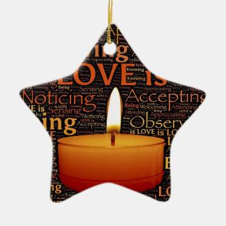 Ornamento De Cerâmica Amor, citações da vela