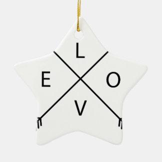 Ornamento De Cerâmica Amor com setas