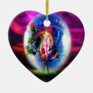 Ornamento De Cerâmica Amor cumprimentos por correios aéreos