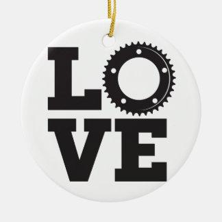 Ornamento De Cerâmica AMOR da bicicleta