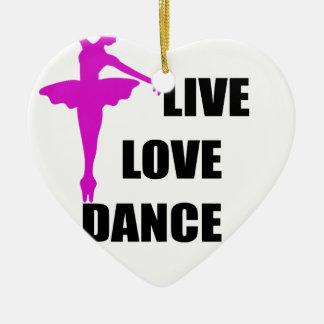 Ornamento De Cerâmica amor da dança vivo