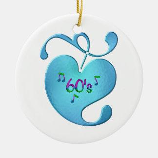 Ornamento De Cerâmica amor da música 60s